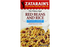 Zatarain's New Orleans Style Red Beans And Rice Reduced Sodium