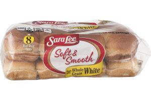 Sara Lee Soft & Smooth Hot Dog Buns Whole Grain White - 8 CT
