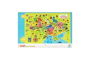 Пазл для дітей від 5років №300109 Мапа України Dodo 100ел