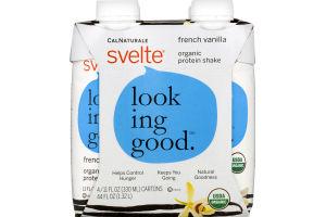 Svelte Looking Good Organic Protein Shake French Vanilla - 4 CT
