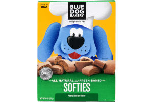 Blue Dog Bakery Softies Peanut Butter Healthy Treats for Dogs