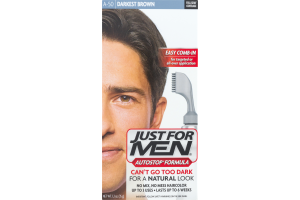 Just For Men AutoStop Formula Easy Comb-in Haircolor A50 Darkest Brown