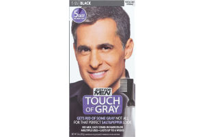 Just For Men Touch Of Gray Easy Comb-In Haircolor T-55 Black
