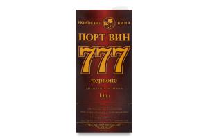 Вино 1л 14.5% красное со вкусом вишни 777 Порт Вин т/п