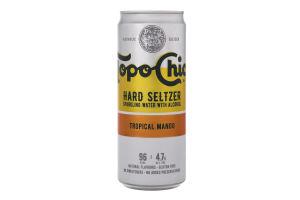 Напиток слабоалкогольный 330мл 4.7% газированный Tropical Mango Hard Seltzer Topo Chico ж/б