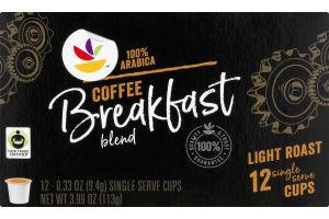 Ahold Breakfast Blend 100% Arabica Coffee Light Roast K-Cup Packs - 12 CT