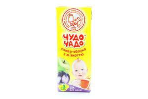 Сок сливово-яблочный с мякотью ОКЗДП Чудо-чадо т/п 0,2л