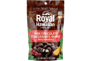 Royal Hawaiian Orchards Dark Chocolate Pomegranate Mango Macadamias