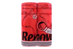 Бумага туалетная Renova Red Label макси красная