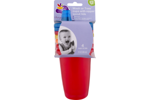 Always My Baby Wash or Toss Cups with Sipper Spout Lids - 4 CT