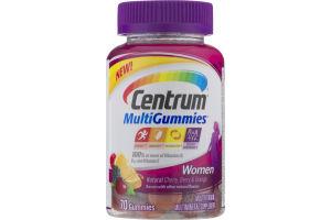 Centrum Women MultiGummies Natural Cherry, Berry & Orange - 70 CT