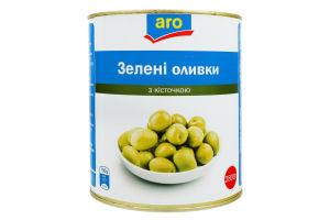Оливки зеленые с косточкой Aro ж/б 2.8кг