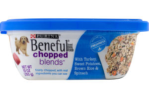 Purina Beneful Chopped Blends Dog Food Turkey, Sweet Potatoes, Brown Rice & Spinach