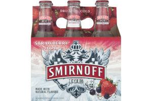 Smirnoff Ice Malt Beverage Strawberry Acai Bottles - 6 CT