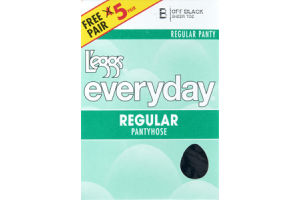 L'eggs Everyday B Off Black Regular Pantyhose - 5 CT