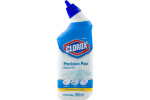 Clorox Precision Pour Bleach Gel, Original Scent, 24 Ounces