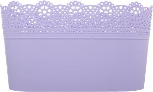 Горшок д/цвет Prosperplast Lace овал лаванда 285мм