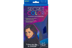Secret Color Headband Hair Extensions Blue