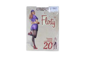 Колготки женские классические з шортиками Flirty 20den 5 бежевые