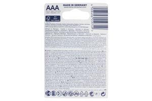 Батарейка AAA 1.5V LR03 №4903 Varta 4шт