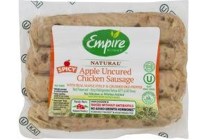 Empire Kosher Natural Apple Uncured Chicken Sausage Spicy