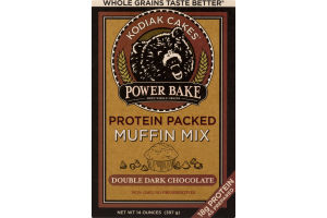 Kodiak Cakes Power Bake Protein Packed Muffin Mix Double Dark Chocolate