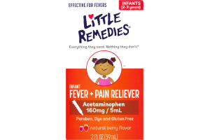 Little Remedies Infant Fever + Pain Reliever Berry Flavor