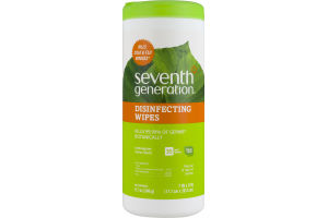 Seventh Generation Disinfecting Wipes Lemongrass Citrus - 35 CT