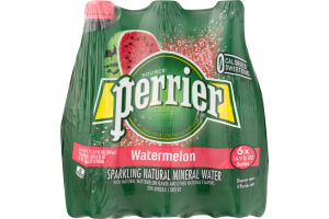 Perrier Sparkling Natural Mineral Water Watermelon - 6 PK