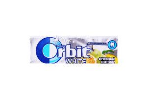 Гумка жувальна без цукру Фруктовий коктейль White Orbit м/у 14г