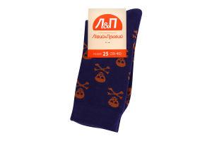 Шкарпетки чоловічі Лівий&Правий Море 25 фіолет