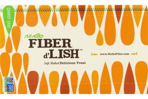 NuGo Fiber d'Lish Soft Baked Delicious Treat Carrot Cake Bars - 16 CT