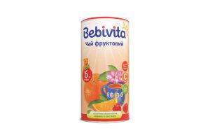 Чай для дітей від 6міс фруктовий Bebivita к/у 200г