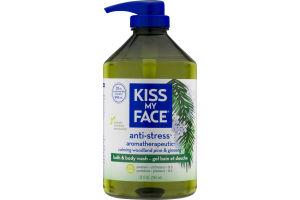 Kiss My Face Anti-Stress Aromatherapeutic Calming Woodland Pine & Ginseng Bath & Body Wash
