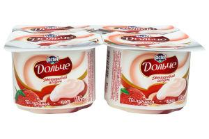 Йогурт 3.2% двухслойный Клубника Дольче ст 115г