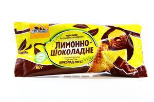 Мороженое лимонно-шоколадное рожок Три медведя 90г