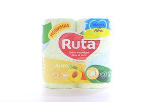 Бумага туалетная жёлтая 2-x слойная Aroma Ruta 4шт