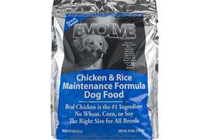 Evolve Chicken & Rice Maintenance Formula Dog Food