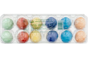Hardboiled Color Coated Eggs - 12 CT