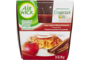 Air Wick Scented Candle Sugar Apple & Warm Cinnamon