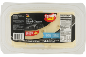 Ahold Natural Sliced Cheese Swiss