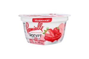Йогурт 6.5% двухслойный Клубника-земляника Premialle ст 140г