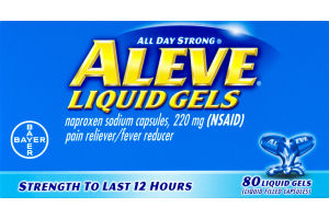 Aleve Liquid Gels Pain Reliever/Fever Reducer