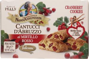 Печенье Falcone Кантучини с клюквой