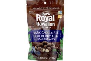 Royal Hawaiian Orchards Dark Chocolate Blueberry Acai Macadamias