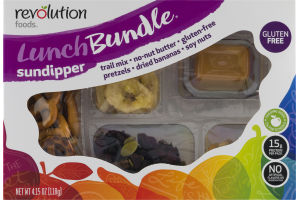 Revolution Foods Lunch Bundle Sundipper Trail Mix - No-Nut Butter - Gluten-Free Pretzels - Dried Bananas - Soy Nuts