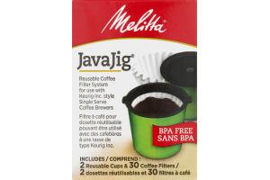 Melitta JavaJig Reusable Coffee Filter System