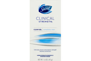 Secret Clinical Strength Clear Gel Antiperspirant Deodorant Completely Clean