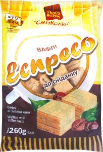 Вафли ChokoBoom Смаколки Эспрессо к завтраку