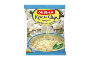 Крем-суп быстрого приготовления с вермишелью и сыром моцарелла Мівіна м/у 57.5г